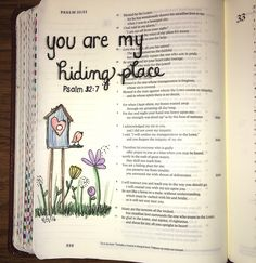 Psalm 32:7 bible journaling- You are my hiding place