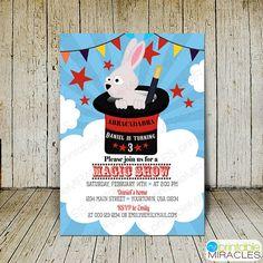 Magic show birthday invitation kids magic by MyPrintableMiracles