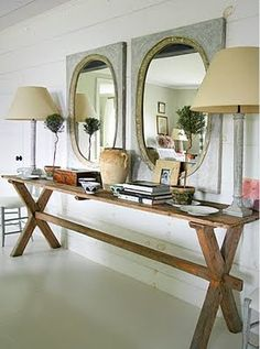 Love the juxtaposition of the table and more elegant pieces