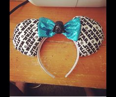 Star Wars Mickey ears  by BlackHeartBows on Etsy, $25.00