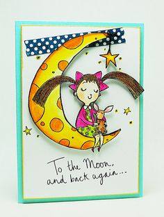 To the Moon and Back... by Elizabeth Allan's Art Studio, via Flickr.  Detailed instructions available at:  http://elizabethallan-blog.blogspot.com/2013/02/lulu-on-moon-day-3-of-3.html