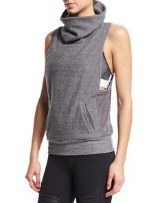 Frost Winter Sleeveless Sport Sweater, Dark Heather Gray, Size: MEDIUM - Alo Yoga