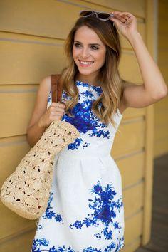 Blue and White Dress #Pixora #PixoraStaffPicks @galmeetsglam #Fashion