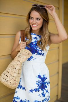 Blue  White Dress