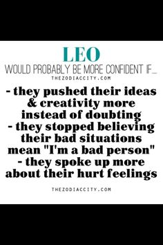 To be a better Leo