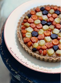 Roasted Rainbow Carrot Tart