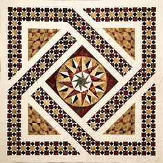 Norah McMeeking - Bella Bella Quilts: Marble Mosaic, Mosaic Art, Mosaic Glass, Mosaic Patterns, Pattern Art, Architecture Concept Drawings, Byzantine Art, Colorful Quilts, Elephant Art