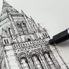 Architecture Drawing Discover Pen Art By Luke Adam Hawker. Luke Adam Hawker who continues his pen art life in London describes himself as a designer an artist as well as an illusrator. Architecture Drawing Plan, Architecture Drawing Sketchbooks, Pencil Sketches Architecture, Historical Architecture, Stylo Art, Art Du Croquis, Building Drawing, Building Sketch, Arte Sketchbook