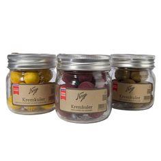Kremkuler: Lakriskremkuler med solbær på Norgesglass - Hyttefeber.no Protein, Desserts, Food, Products, Tailgate Desserts, Deserts, Essen, Postres, Dessert