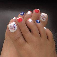 Nail art - uñas decoradas - part 2 Toenail Art Designs, Pedicure Designs, Pedicure Nail Art, Anchor Nail Designs, Pretty Toe Nails, Cute Toe Nails, Diy Nails, Toe Nail Color, Toenails