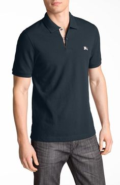 Burberry Brit Modern Fit Piqué Polo available at #Nordstrom