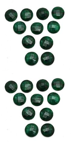 Other Emeralds 164398: 11 Pcs Lot Of Faceted Dyed Emerald Round Shape Approx 16Mm Loose Gemstones -> BUY IT NOW ONLY: $42.99 on eBay!
