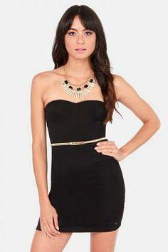 3a71543e1e The Volcom Frochickie Strapless Black Dress is the little black dress