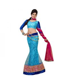 Blue Lace Work Lehenga Just @Rs.6,461 60% OFF  Click Below To Buy:- http://www.ethnicstation.com/blue-lace-work-lehenga-rc5509  #LaceWorkLehenga #OnlineSale