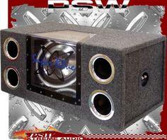 "BNPS122 Subwoofer Dual 12"" 1200 Watt Illuminated Box"