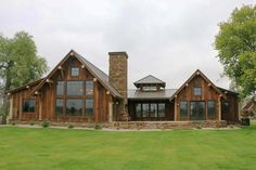 Rustic Mountain Ranch House Plan - 18846CK | Architectural Designs - House Plans Cabin Homes, Log Homes, Mountain Ranch House Plans, Mountain Home Exterior, Mountain Homes, Rustic House Plans, Rustic Home Exteriors, Rustic House Design, Rustic Lake Houses