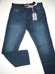 Tommy Hilfiger gallatin straight fit medium wash men's jeans size 38x30 NWT  #TommyHilfiger #ClassicStraightLeg