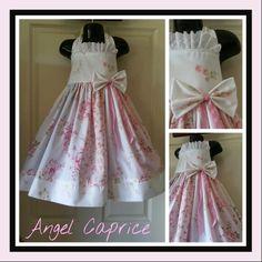 A beautiful flower girl dress I made today. Facebook.com/angelcaprice1