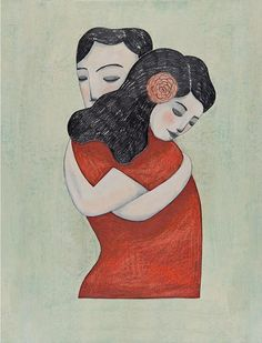 Giveaway Time! Find the details on the Blog.                                                                                                                                                                                 More Creative Illustration, Illustration Art, Hugs, Juan Palomino, Italian Artist, Cherry Tree, Love Symbols, Illustrations, Gouache