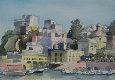 Ponza, watercolours