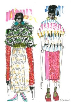 fashion #illustration by E. Blackshaw