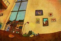 Tình yêu là khi xhungs ta cùng nhau nằm trên sàn ngắm trần nhà vào những ngày buồn chán.