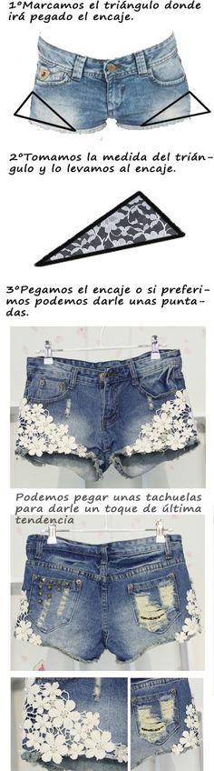 DIY shorts con encaje | BestLookzone