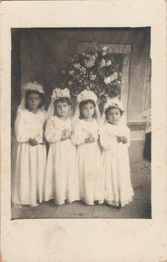 1a. Comunión de Ernestina Rico con las hermanas Raquel, Elena y Alicia Topete de Atenguillo