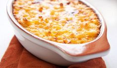 """Macaroni and Cheese with Leeks and Bacon - An Adult Twist On A Kid Classic   We're gonna save your bacon with this twist on a kid classic that's ready in less time than it takes to say """"More, please""""."""