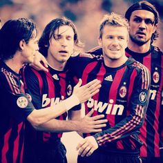 David Beckham admits he almost cried when he learned of OT return. Football Troll, Football Jokes, Football Is Life, Football Players, Alexandre Pato, Milan Football, Paolo Maldini, Chelsea, Andrea Pirlo