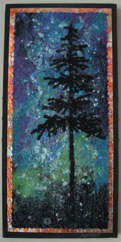 "Northern Lights"" needle felted wool art made by Bill & Linda ..."