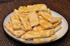 Cheese Snacks (Syrové Tyčinky). Popular for New Years Eve combined with wine or beer.
