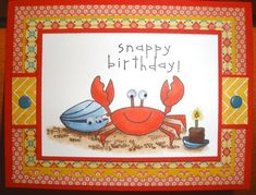 Stamps: Crab & Company Paper: Poppy Parade, MME DSP, Gina K Luxury White Ink: memento Accessories: Copics, snap eyelets, stickles  Read more: http://www.splitcoaststampers.com/gallery/photo/2277003#ixzz2gWM1VyJ6 Snappy Birthday Donna