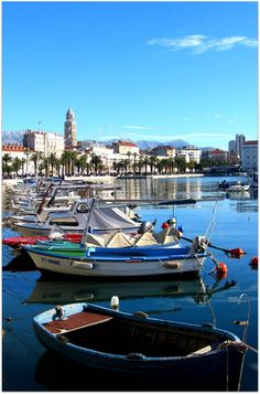 Split, Croatia- boats, water and sunshine draw me in!