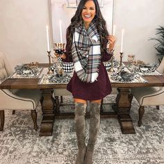 Cute Outfits For Women winter outfit ideas fall outfit ideas cute outfits Cute Outfits For Women. Here is Cute Outfits For Women for you. Cute Outfits For Women fall fashion 2020 cute fall outfits fall clothes for. Fall Winter Outfits, Autumn Winter Fashion, Purple Fall Outfits, Christmas Outfits For Women, Christmas Clothes, Winter Gear, Mens Winter, Winter Style, Fall Fashion