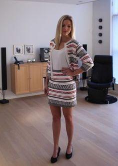 Knitting Patterns Skirt Jacket and skirt in pattern Knit Skirt, Knit Dress, Dress Skirt, Knitting Patterns Free, Baby Knitting, Knit Fashion, Womens Fashion, Crochet Clothes, Knit Cardigan