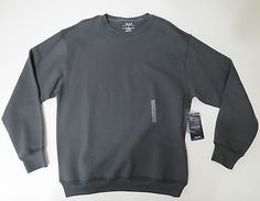 Sweater mens Large Roundtree & Yorke Sport Mens Grey Crew Neck ProLuxe Fleece
