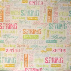 Pastel Spring Coordinates Printed 12 x 12 Scrapbook Paper is available at Scrapbookfare.