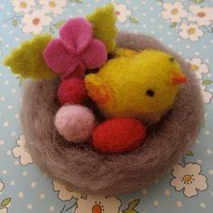 le nid en laine cardée
