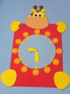 Creative Activities For Kids, Educational Games For Kids, Creative Teaching, Clock Craft, Diy Clock, Diy Crafts To Do, Crafts For Kids, Preschool Art, Craft Work