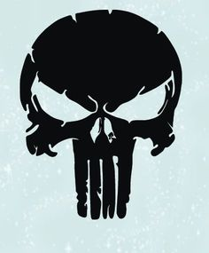 Punisher, Instant Download for Cut and Print, Digital Files In SVG, PNG, EPS, AI and PDF