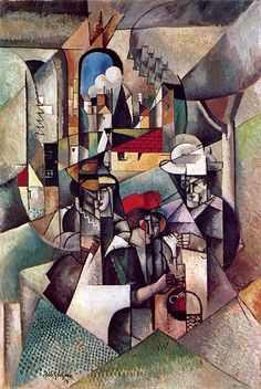 "Albert Gleizes (1881-1953) - Women Sewing 1913 Albert Gleizes, was a French artist, theoretician, philosopher, a founder of Cubism and an influence on the School of Paris. Albert Gleizes and Jean Metzinger wrote the first major treatise on Cubism, Du ""Cubisme"", 1912."