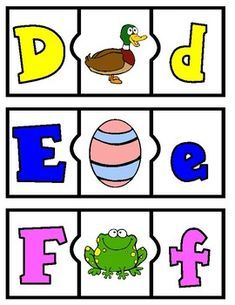 ABC Puzzles Center for kinder. Letter recognition games for kinder. Kinder beginning sounds puzzles. Kindergarten Language Arts, Kindergarten Readiness, Preschool Kindergarten, Phonics Lessons, Phonics Games, Alphabet Activities, Preschool Alphabet, Abc Puzzle, Alphabet Cards