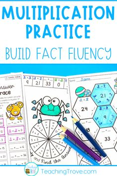 Teaching multiplication to your 3rd grade students should be fun. Use anchor charts and flip books to introduce each multiplication strategy and then hands-on games, activities and printables to help them remember their times tables. The multiplication activities are perfect for math centers, partner work, morning work or extra activities for early finishers.
