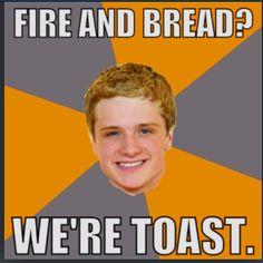 Katniss and Peeta. Awful but hilarious.