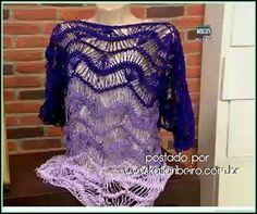Katia Ribeiro Moda & Decoração Handmade: Blusa em crochê de grampo com vídeo aula com a Helen Mareth