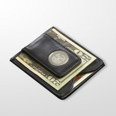 Customizable money clip  leather wallet  Engraved  by GiftsbySAS, $45.00