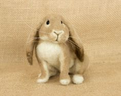 Alice the Bunny Needle felted animal sculpture by TheWoolenWagon, $110.00