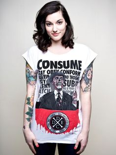 """""""Consume"""" T-Shirt (inspired by They Live) by Disturbia Clothing"""