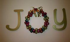 Christmas 2012 - JOY decoration